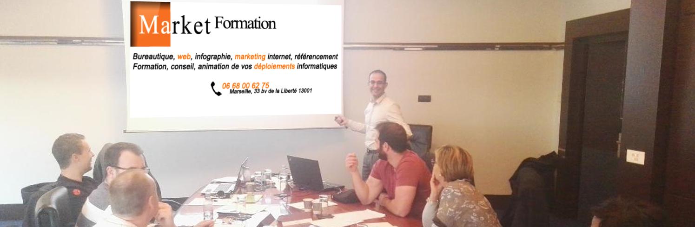 Formation bureautiques, web, ERP, CRM à Marseille, Aix, Toulon, Nice et national.